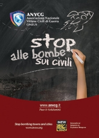 Stop alle bombe sui civili - Stop bombing towns and cities